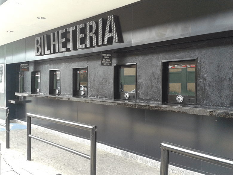 guiches bilheterias de cinema