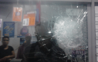 lotericas blindadas vidro estilhaçado