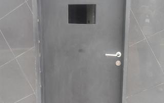 porta blindada para guarita