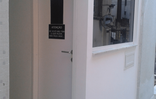 porta blindada para portaria